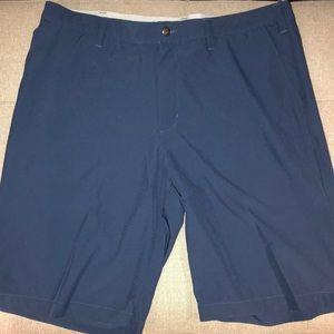 Men's steel blue ADIDAS golf shorts